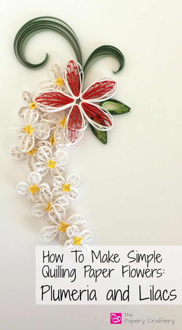 How To Make Simple Quilling Paper Flowers Plumeria and Lilacs