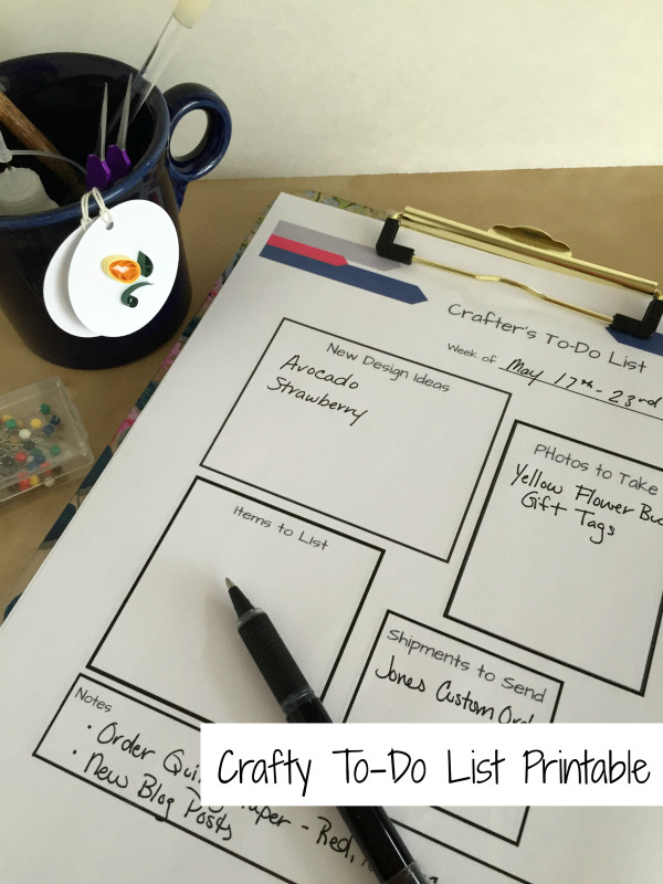 To Do List for the Creative shop