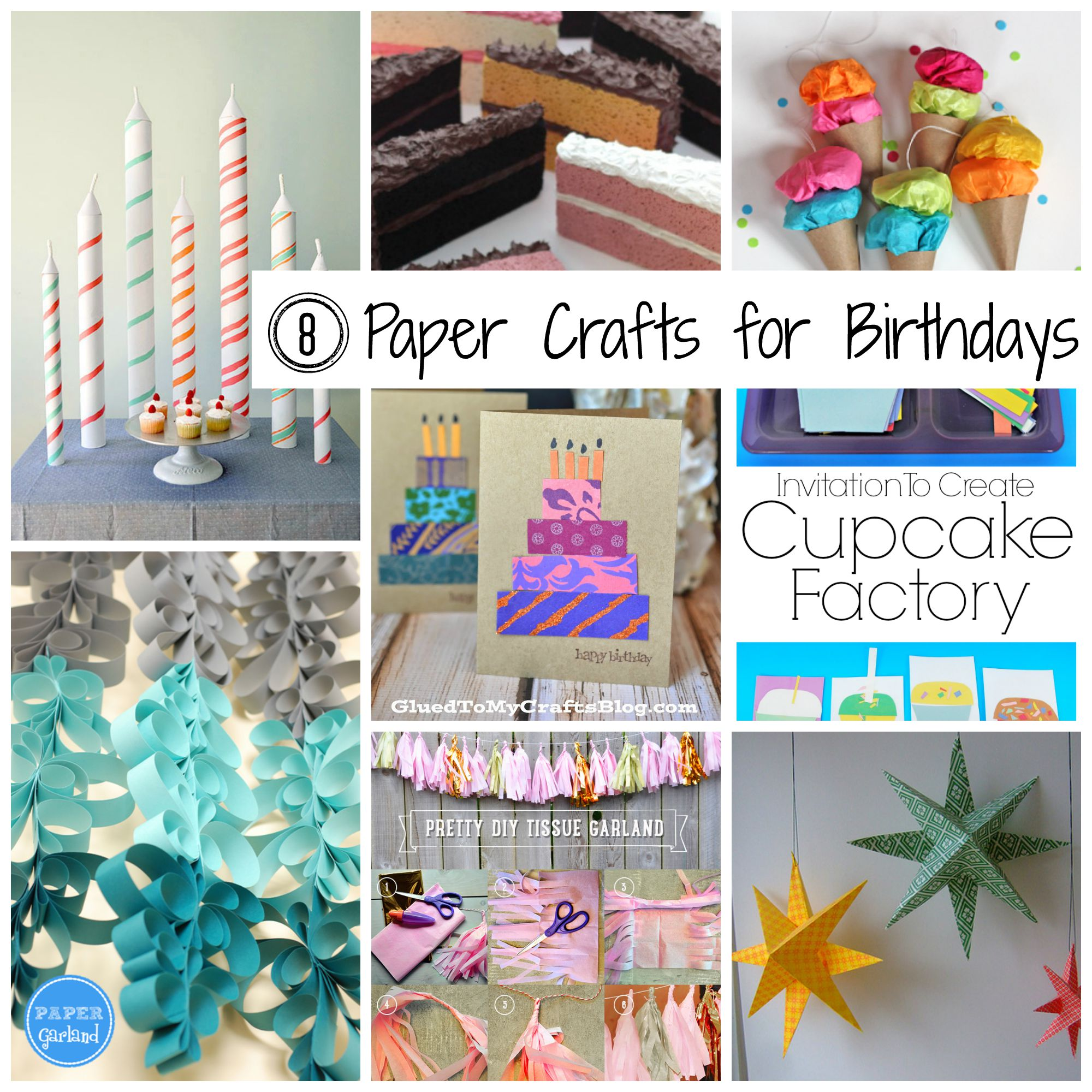 8 paper crafts for birthdays the papery craftery for Crafts for birthday parties