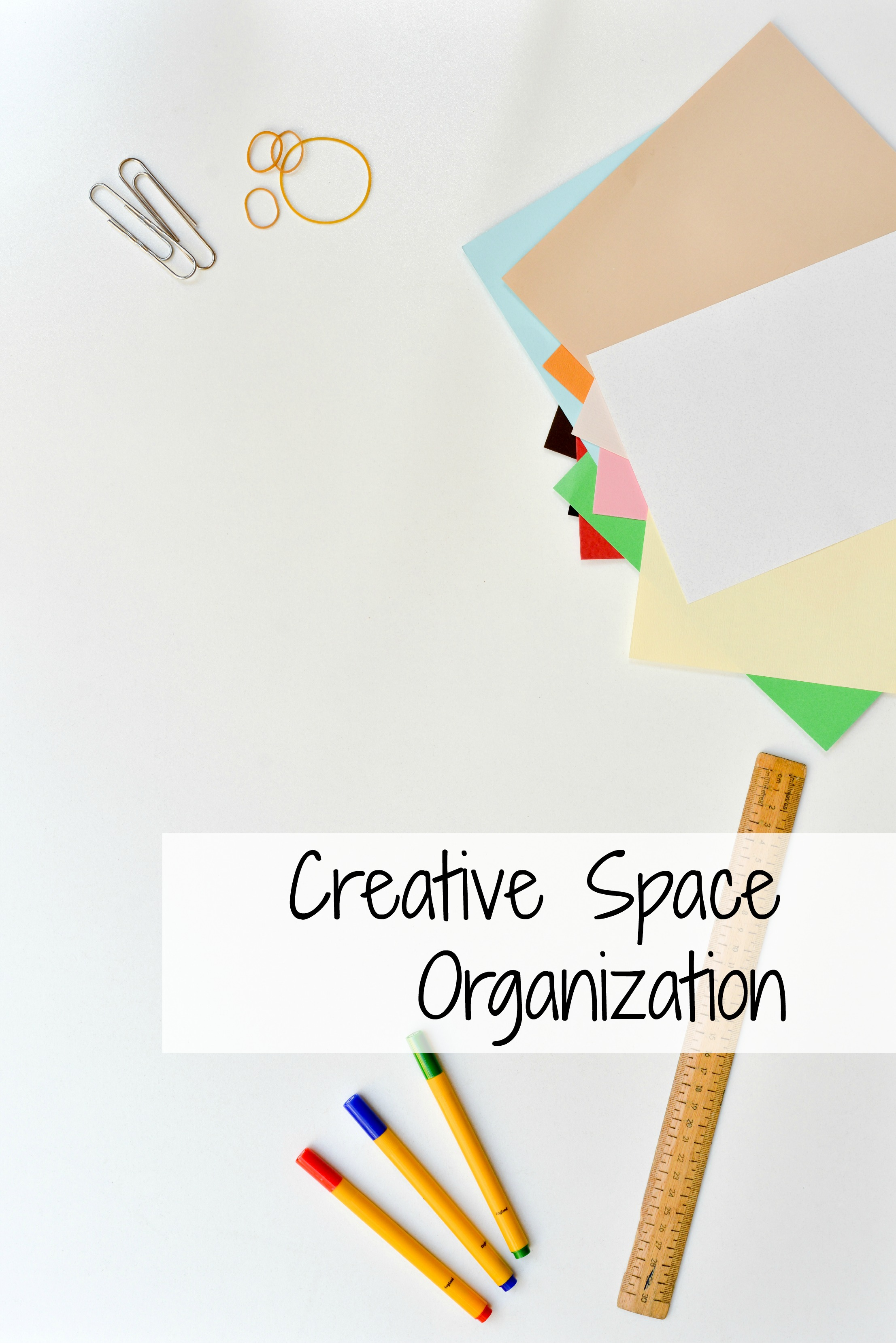 Creative space organization art studio storage