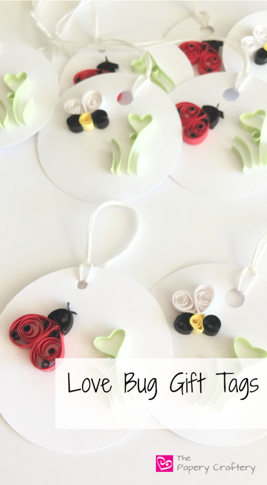 finished bug insect gift tags
