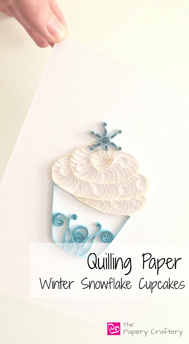 Quilling Paper Frozen Inspired Cupcakes for Home Decor