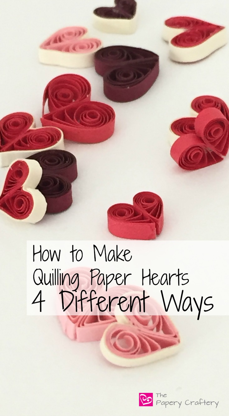 Tutorial for Quilling Paper Hearts